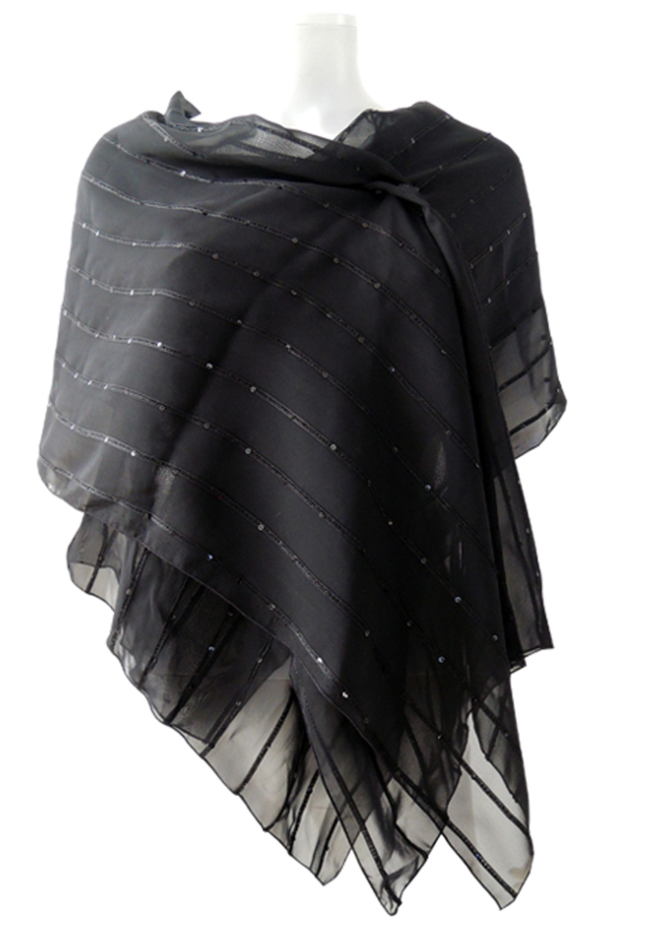 enorme sconto 7637b 9d871 Patrizia Cavalleri | Abbigliamento | Stola in seta nera con ...