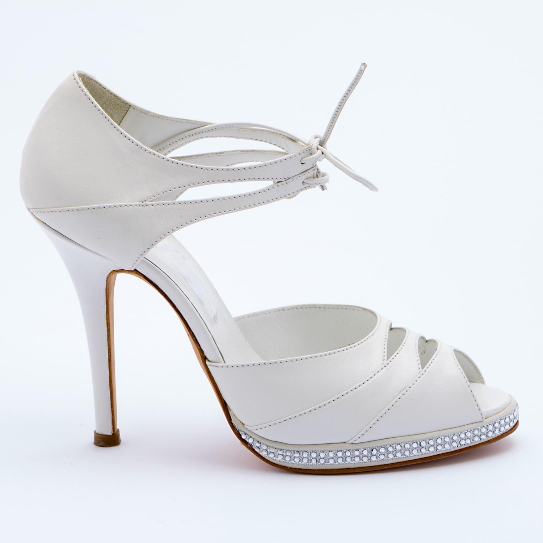 Scarpe Sposa Parabiago.Patrizia Cavalleri Scarpe Sandalo Sposa In Pelle Tacco 12
