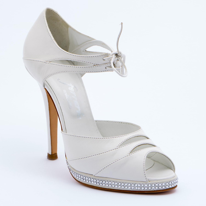Sandalo sposa realizzato in pelle color avorio - Particolare 15cda06d06b