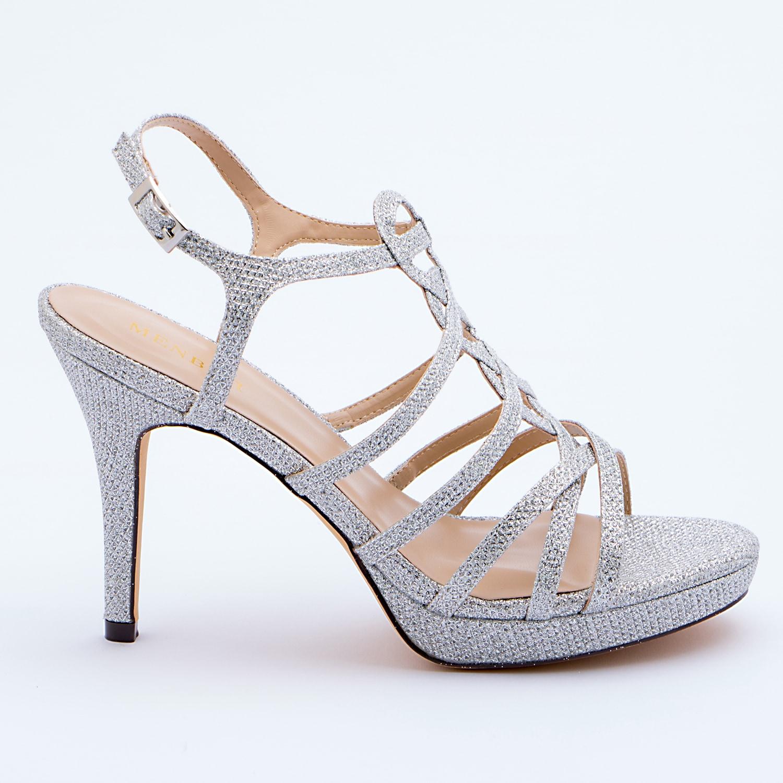 Scarpe Da Sposa Color Argento.Patrizia Cavalleri Scarpe Sandalo Sposa Argento