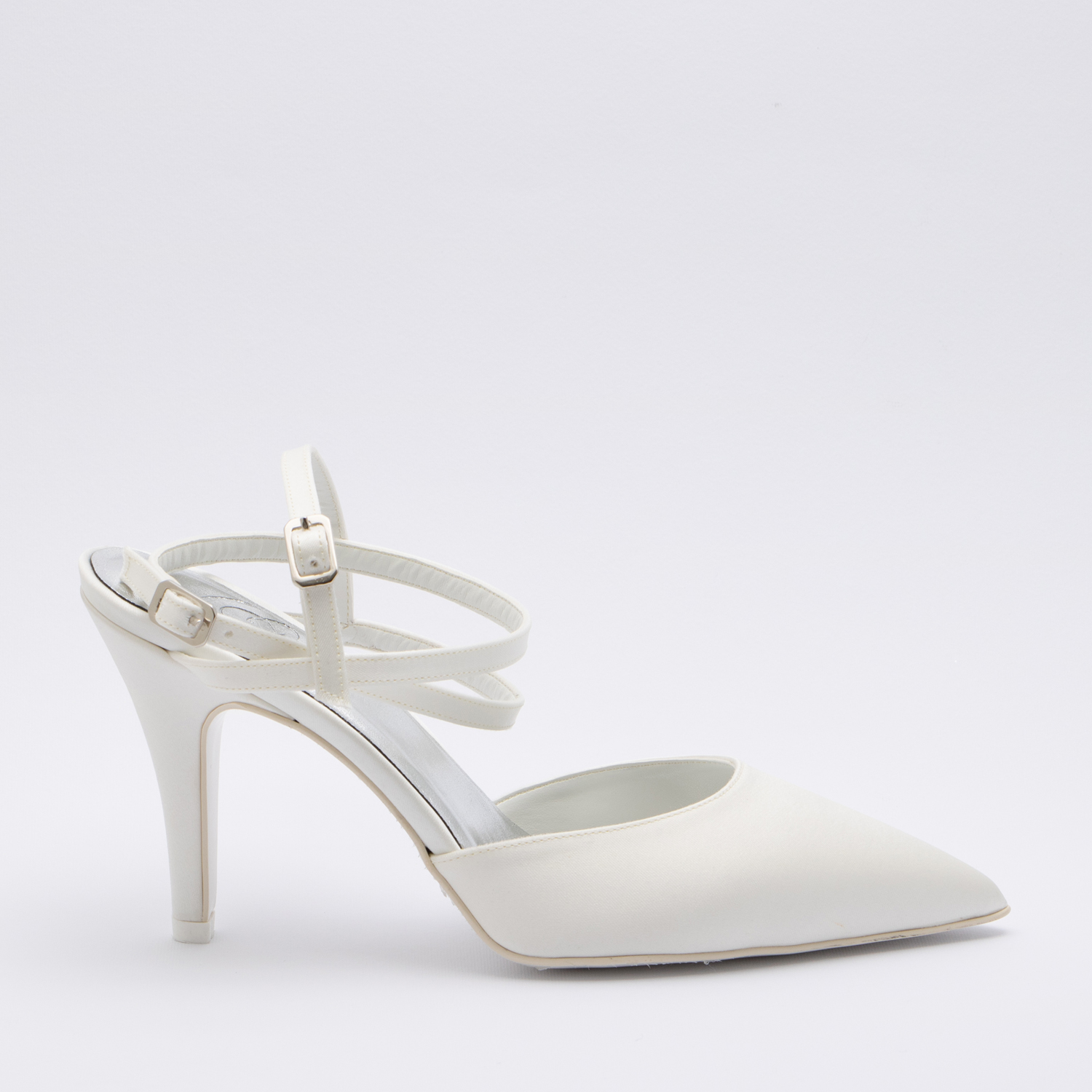Scarpe Chanel Sposa.Patrizia Cavalleri Wedding Shoes Chanel Sposa With Cross Straps