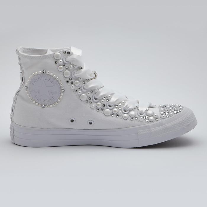 scarpe converse con perle
